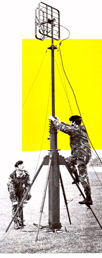 RUGGED CLARK MASTS AIR-OPERATED TELESCOPIC PORTABLE MASTS FOR ALL COM